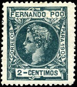 Stamp Fernando Po 1903 2c