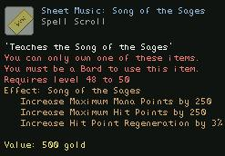 Sheet Music Song of the Sages