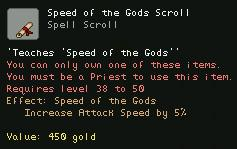 Speed of the Gods Scroll