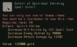 Scroll of Spiritual Striking