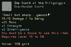 Imp Sword of the Pillywiggin