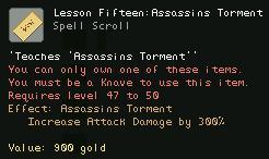 Lesson Fifteen Assassins Torment