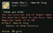 Sheet Music Hearth Song