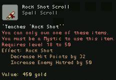 Rock Shot Scroll