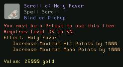 Scroll of Holy Favor