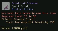 Scroll of Disease
