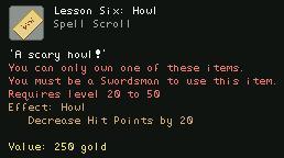 Lesson Six Howl