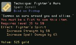 Technique Fighter's Aura