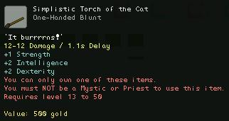Simplistic Torch of the Cat