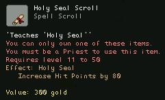 Holy Seal Scroll
