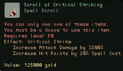Scroll of Critical Striking
