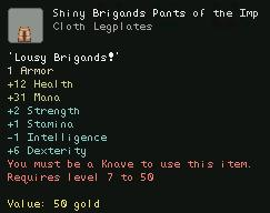 Shiny Brigands Pants of the Imp