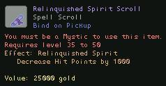 Relinquished Spirit Scroll