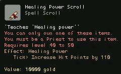 Healing Power Scroll