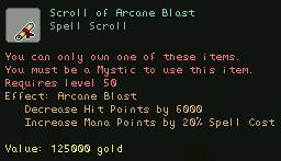Scroll of Arcane Blast