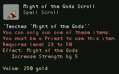 Might of the Gods Scroll