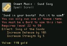 Sheet Music Sand Song