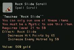 Rock Slide Scroll