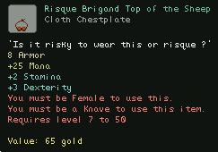 Risque Brigand Top of the Sheep