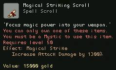 Magical Striking Scroll