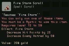 Fire Storm Scroll