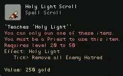 Holy Light Scroll