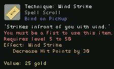 Technique Wind Strike