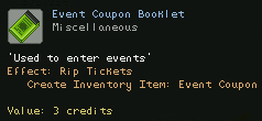 Event Coupon Booklet