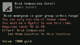 Bind Companions Scroll
