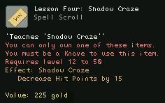 Lesson Four Shadow Craze