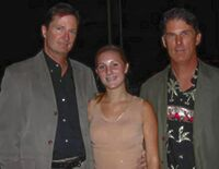 Richard and Ronald Simmons with fan