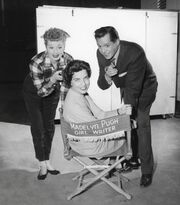 Madelyn Davis with Lucy and Desi