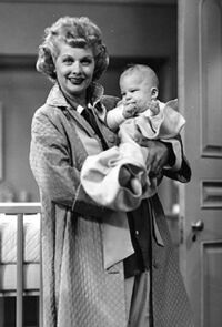 Lucy and Ronald as Baby Ricky