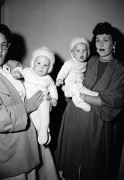 Richard and Ronald Lee Simmons with mother