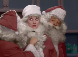 Lucy Ethel and Santa