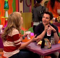 Freddie flirts with sam