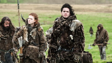 Jon snow and ygritte 3x05