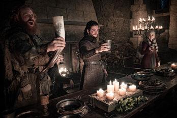 Tormund, Jon, Daenerys festeggiamenti