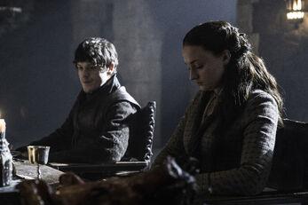 Ramsay e Sansa a pranzo
