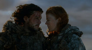 Jon snow and ygritte 3x03