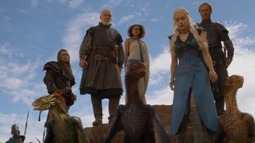 Daenerys, jorah, missandei e i draghi 3x06