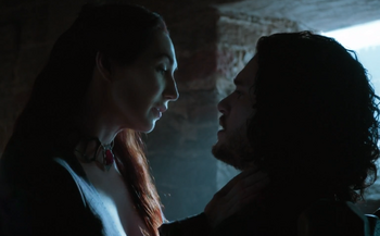 Jon snow and melisandre 5x03
