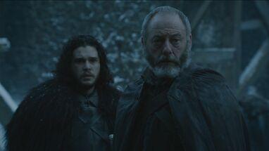 Davos e Jon sanno della morte di Stannis