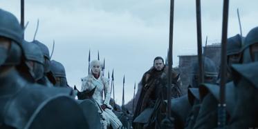 Daenerys e Jon Winterfell S8