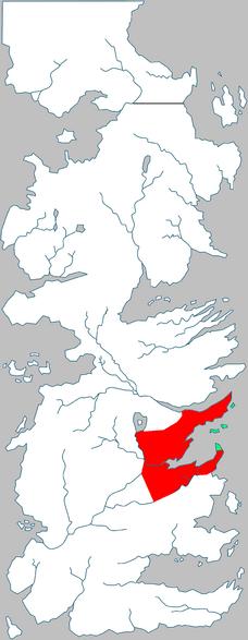 Terre della Corona posizione