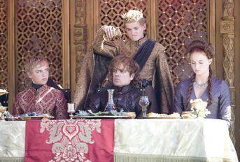 Joffrey e Tyrion vino