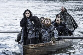 Jon snow and tormund 5x08