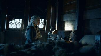Daenerys e Jon sulla nave