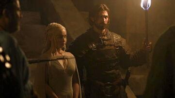 Daario e Dany nelle catacombe