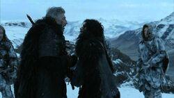 Jon snow uccide qhorin 2x04